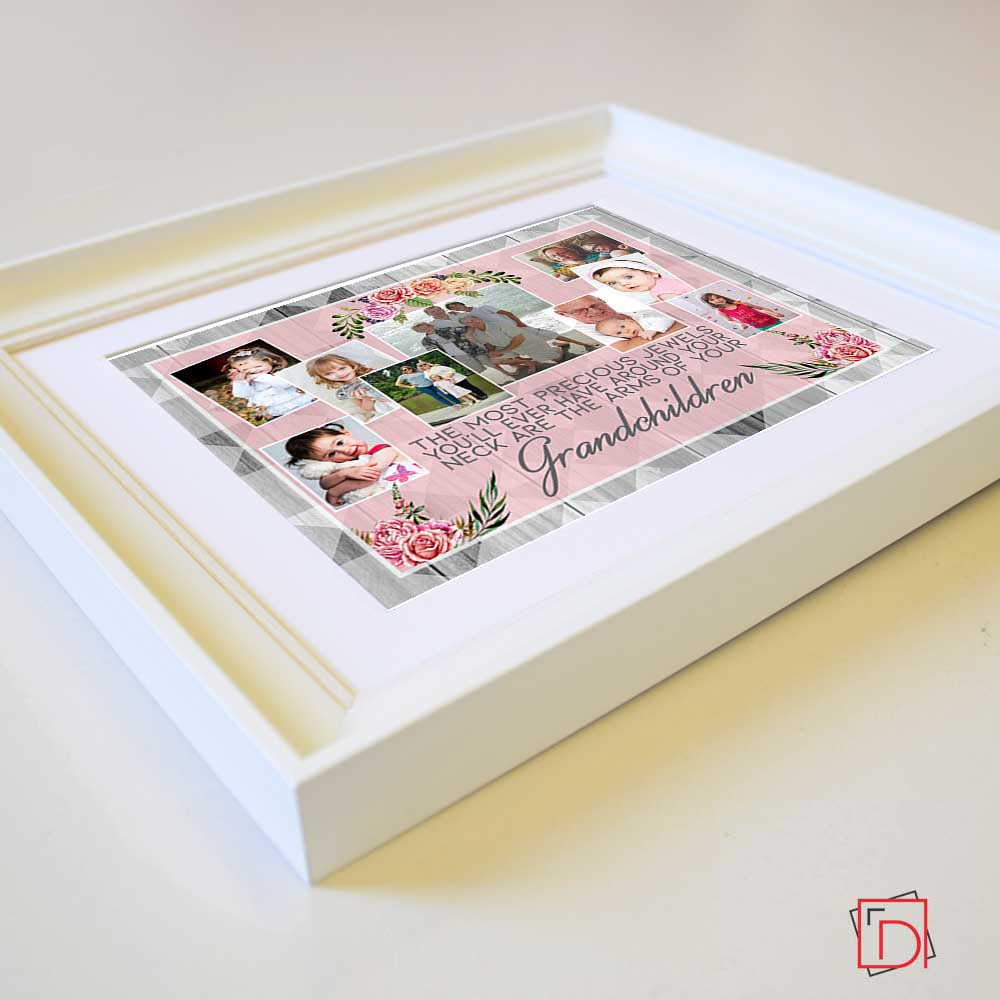Tan The Most Precious Jewels Framed Photo Collage