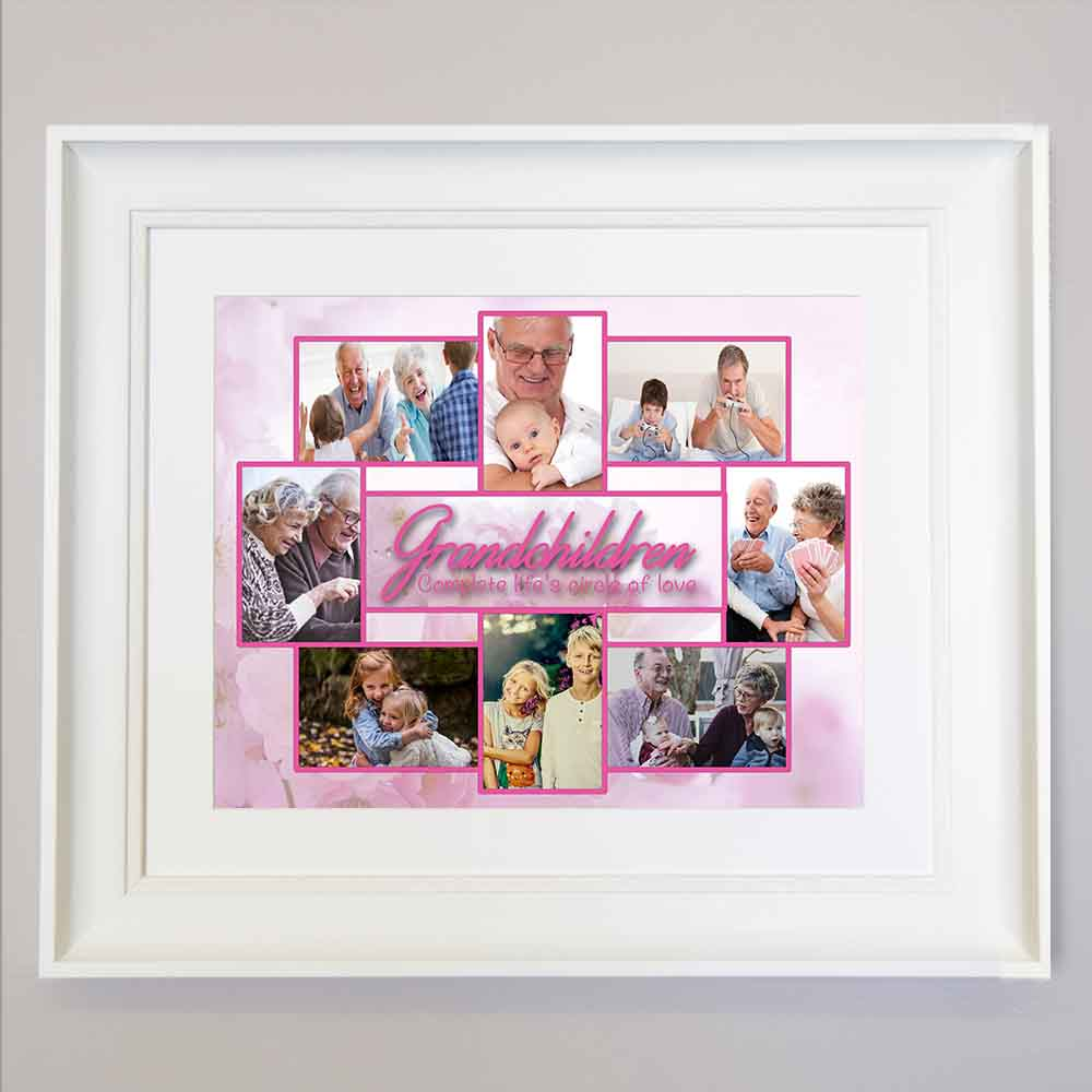 Rosy Brown Life is a Circle of Love Framed Photo Collage