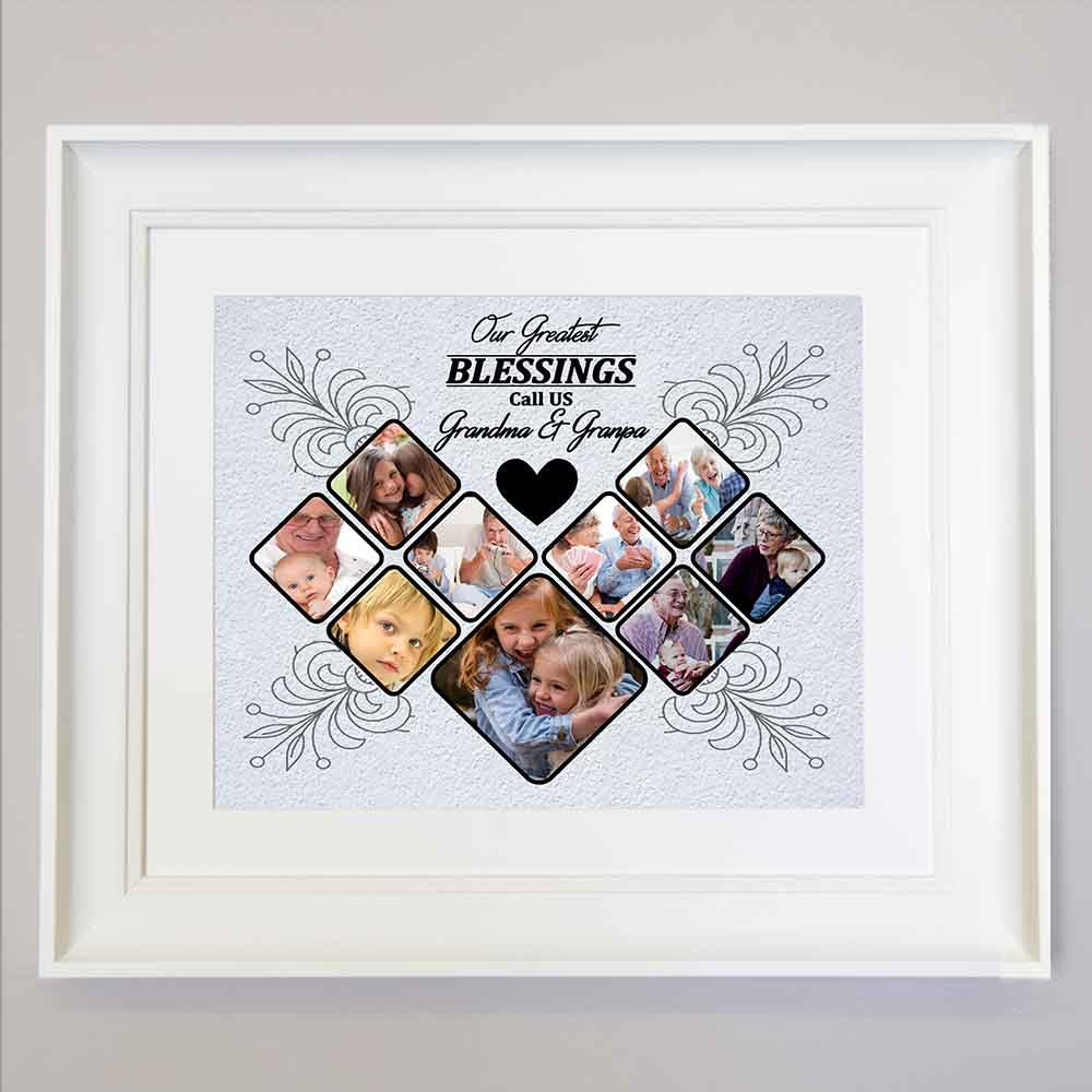 Lavender Our Greatest Blessing Framed Photo Collage