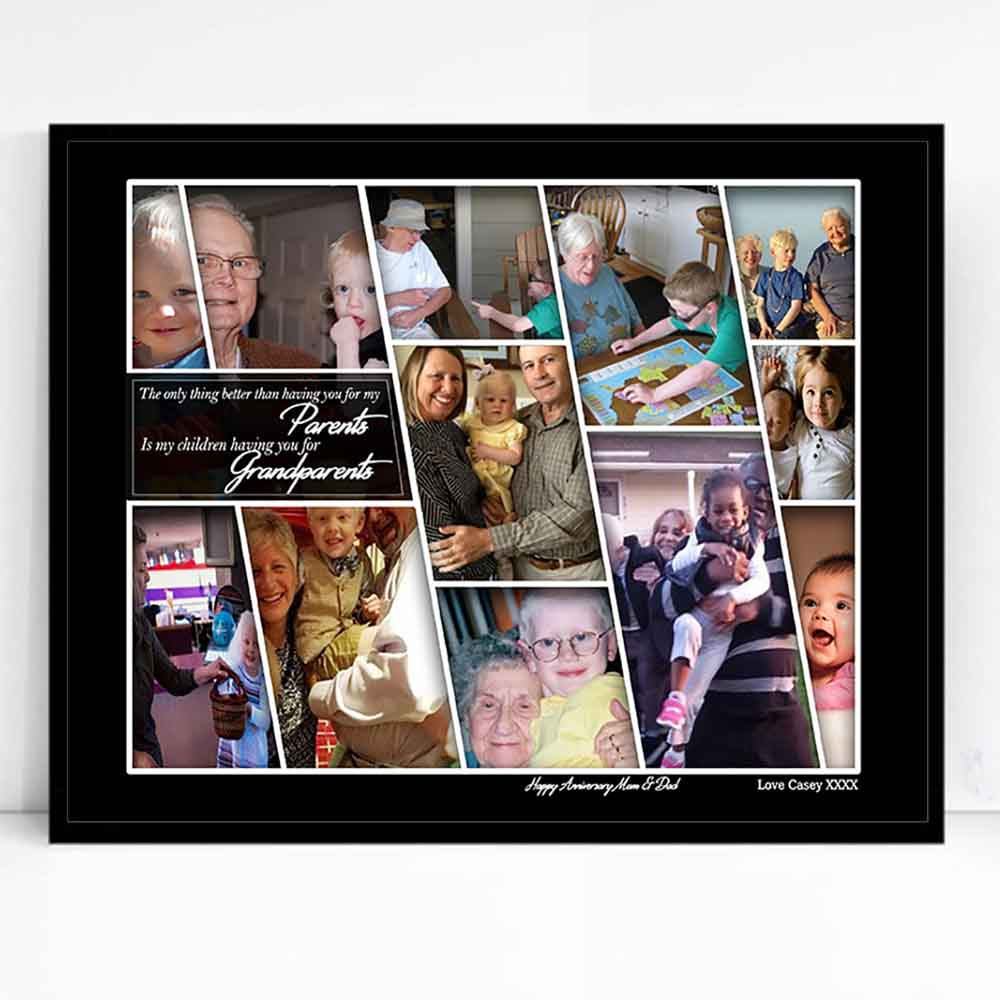 Grandparents Picture Framed Photo Collage - Do More With Your Pictures