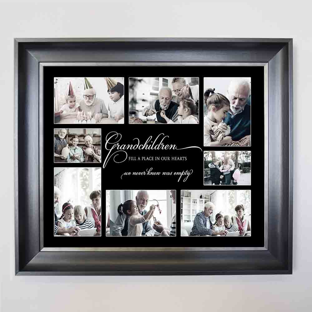 Black Love for Grandchildren Framed Photo Collage