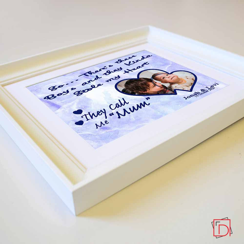 Stole My Heart Mother Sentiment Gift Frame