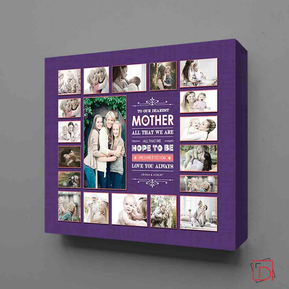 Dearest Mother Framed Photo Collage