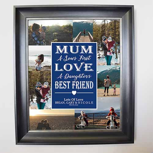 Midnight Blue We Love You Mum Framed Photo Collage