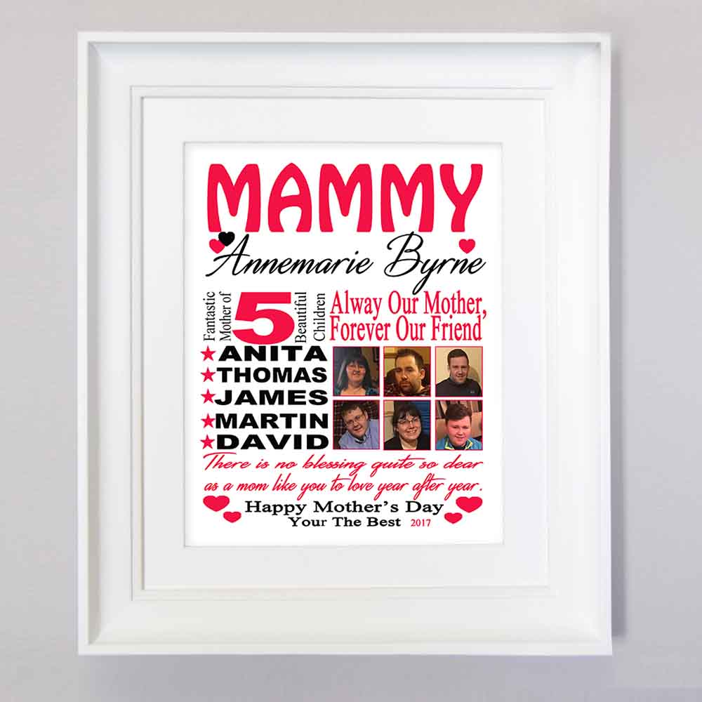 Red Mothers Day Present Sentiment Picture Frame Suit Product