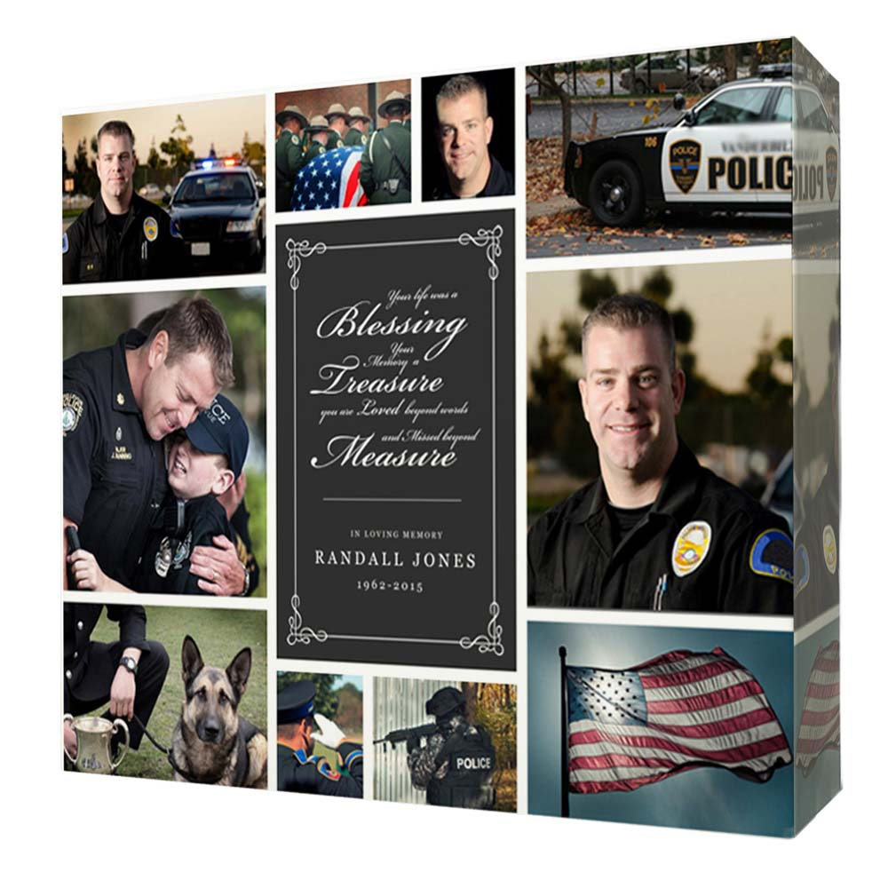 A Hero Memorial Photo Collage Wall Art - Do More With Your Pictures