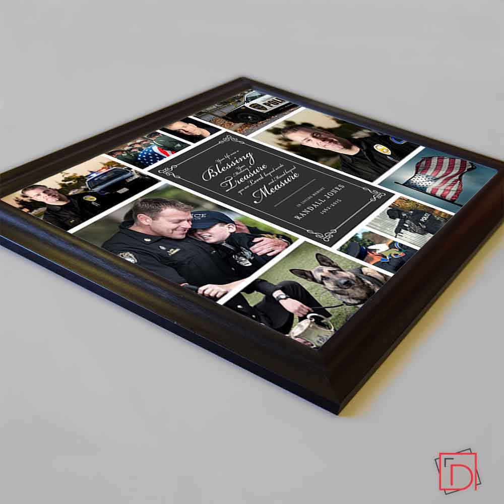 Black Memorial Blessing Framed Picture Collage