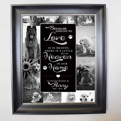 In Heaven Pet Memorial Framed Photo Collage