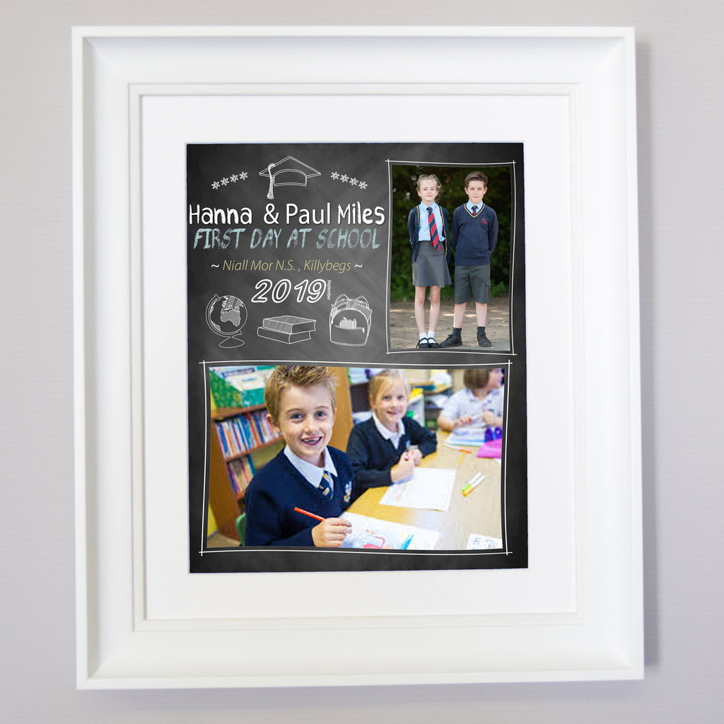 First Day At School Chalk Board Wall Art - Do More With Your Pictures