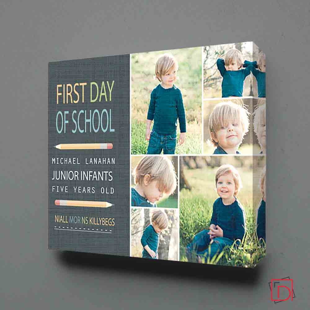 First Day At School Photo Collage Wall Art - Do More With Your Pictures