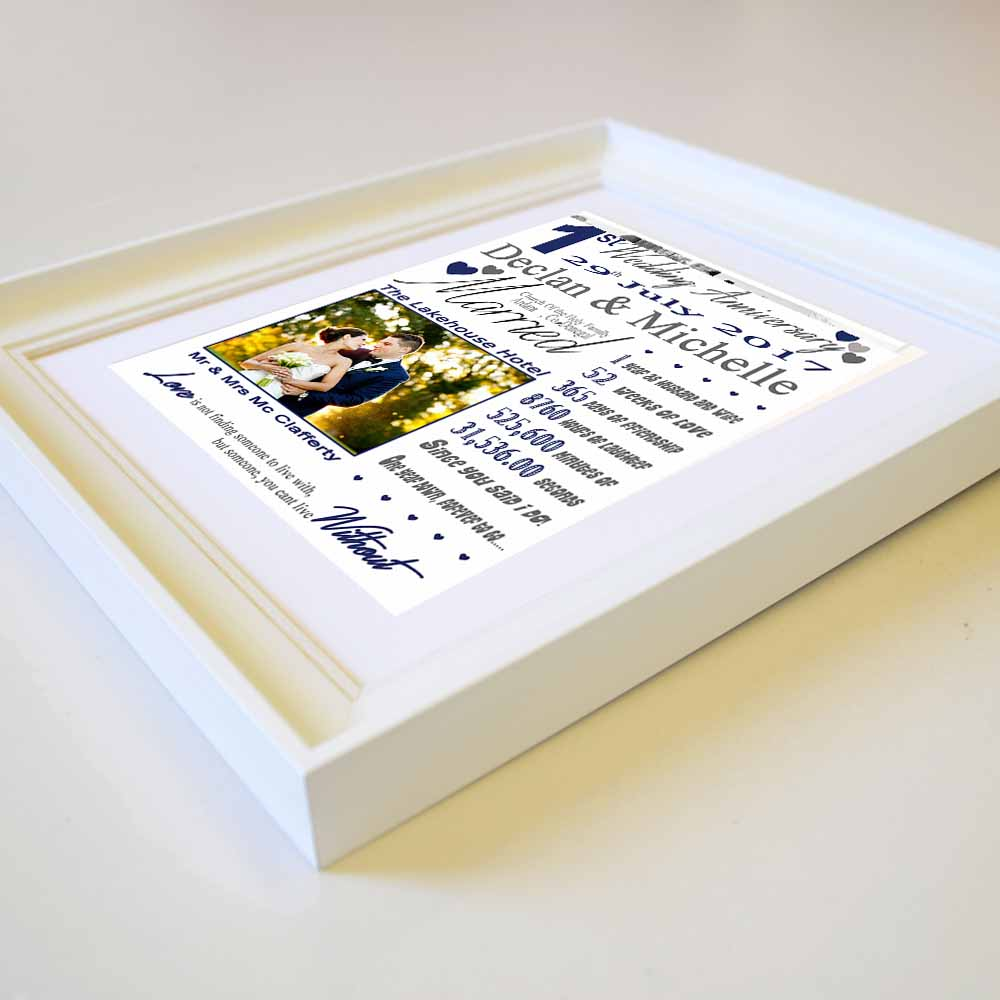 First Wedding Anniversary Sentiment Frame - Do More With Your Pictures