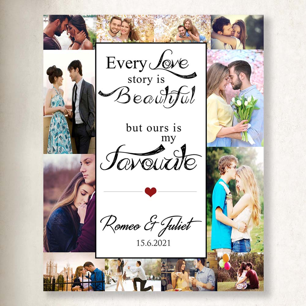 Every Love Is Beautiful Collage On Canvas