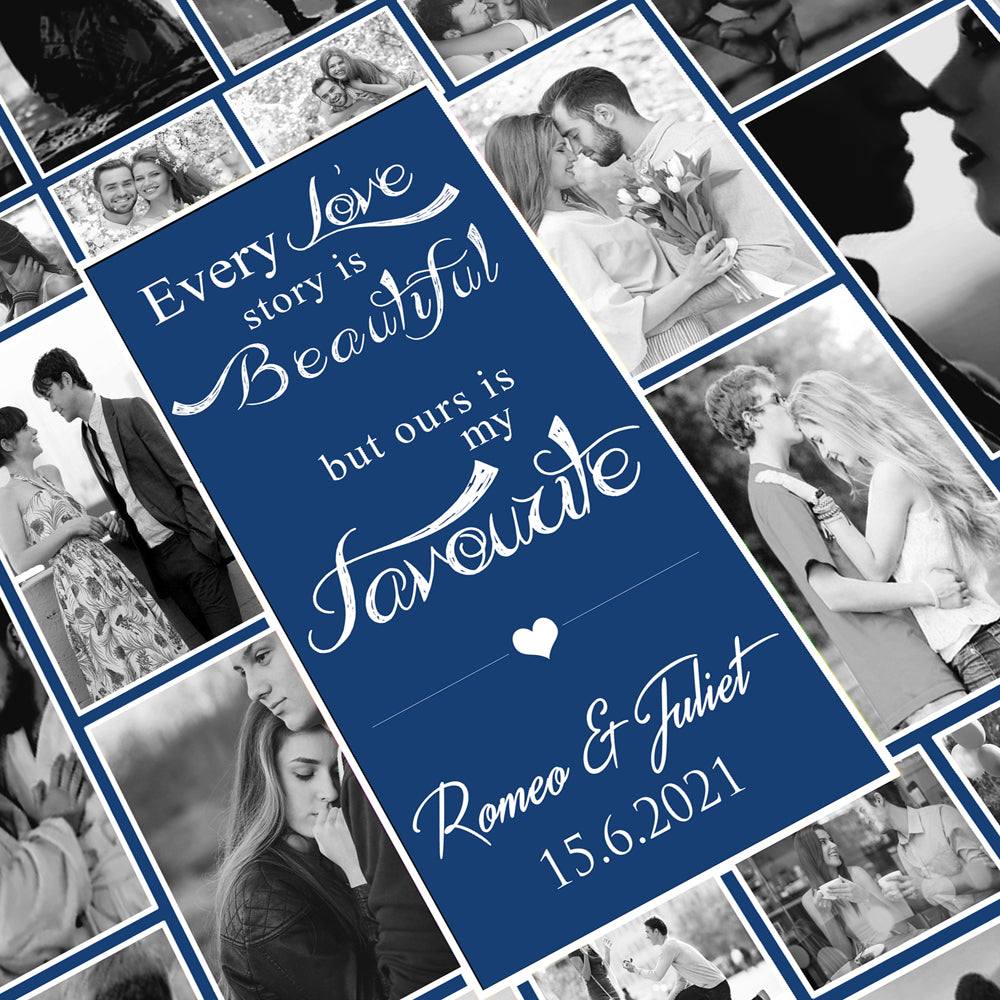 Every Love Story Is Beautiful Photo Collage Wall Art