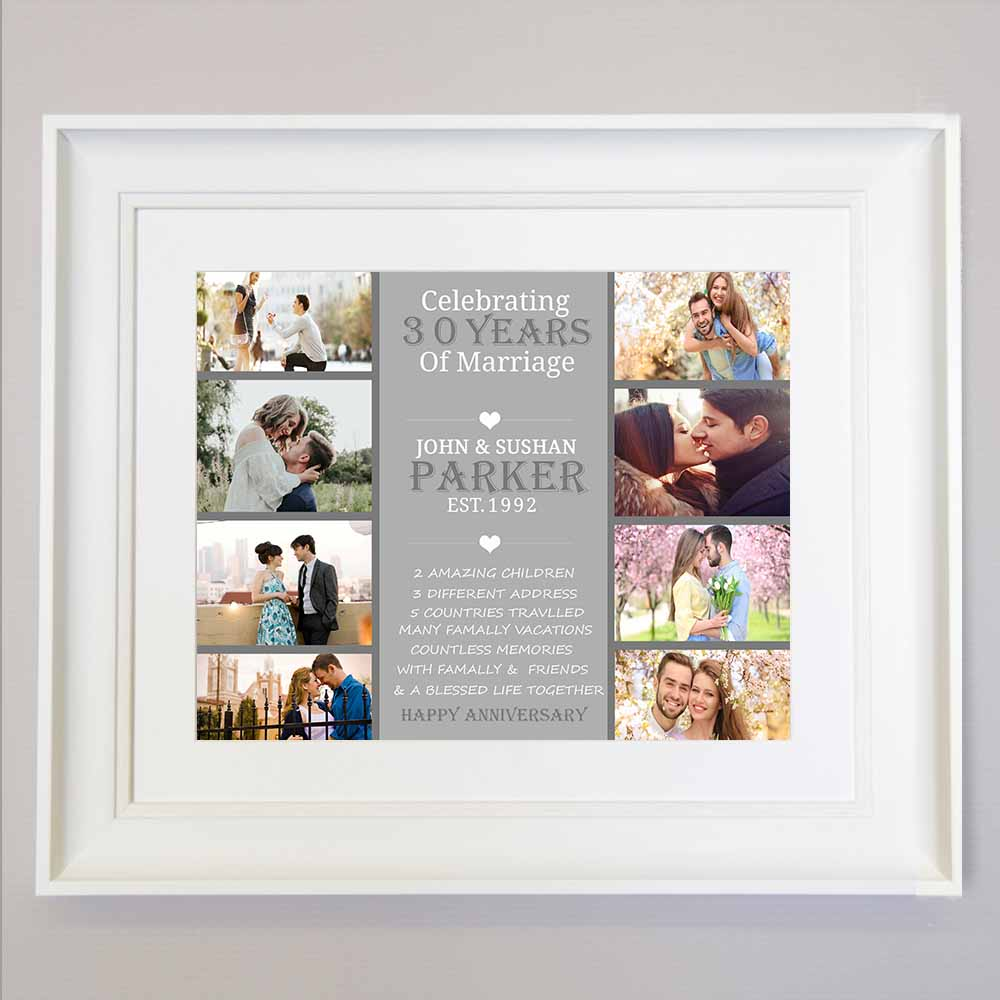 30th Pearl Wedding Anniversary Photo Collage - Do More With Your Pictures