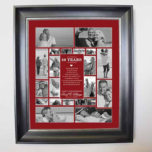 personalised picture collage 50th wedding anniversary