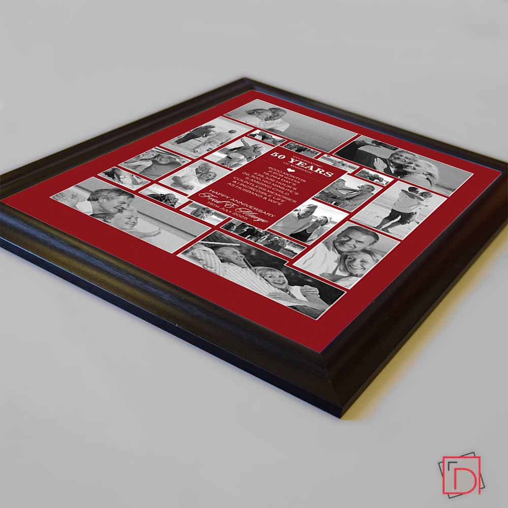 personalised picture 50th wedding anniversary
