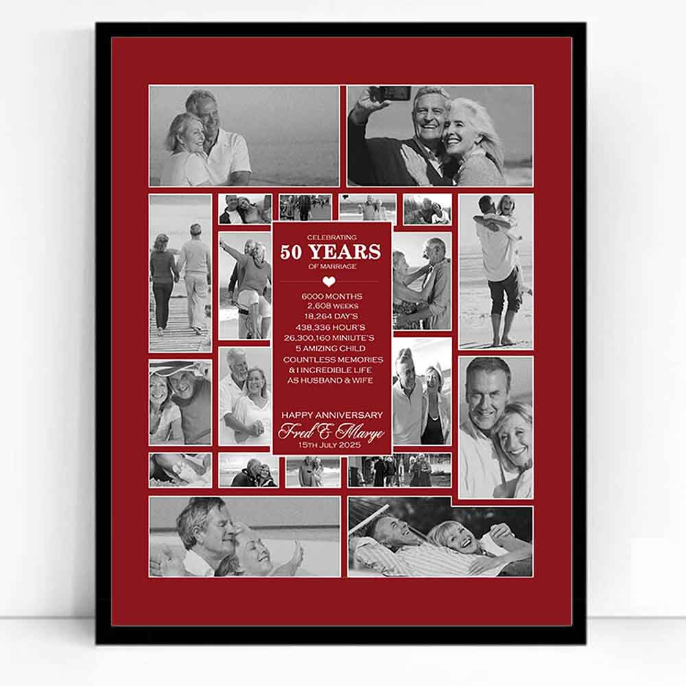 picture collage for golden wedding anniversary