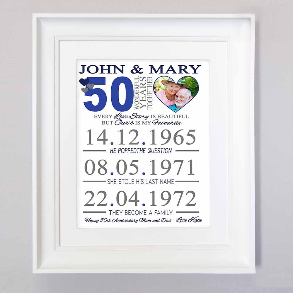 50 Years Together Sentiment Frame - Do More With Your Pictures