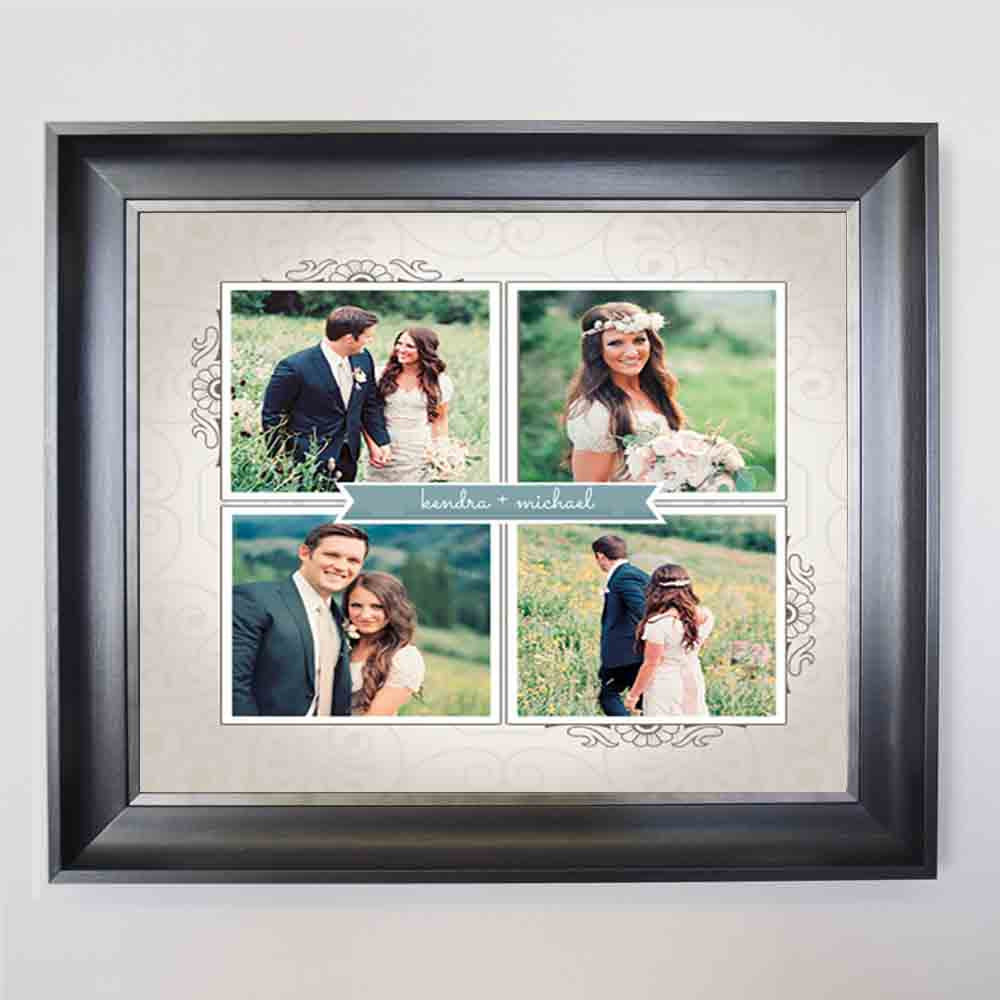 Tan To Have & To Hold Framed Photo Collage