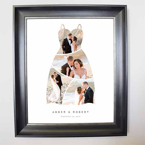 My Wedding Dress Framed Photo Collage