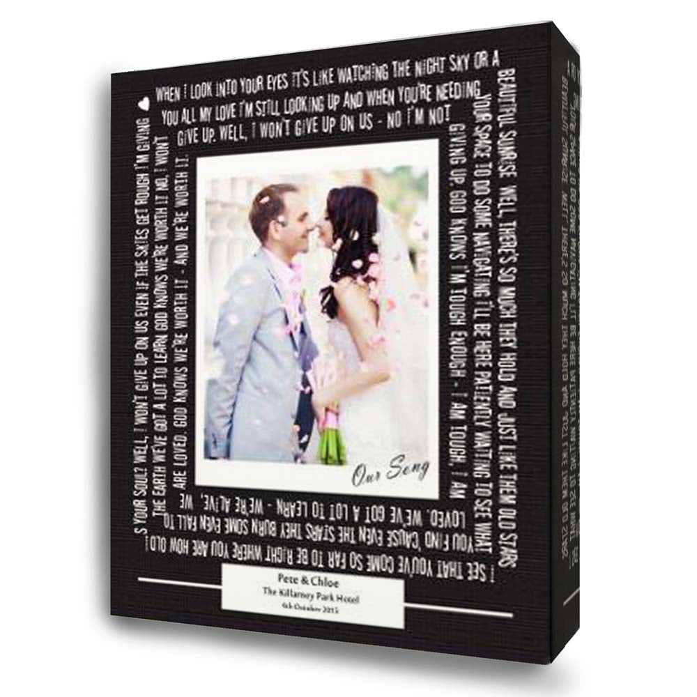 Our Wedding Song Canvas Art
