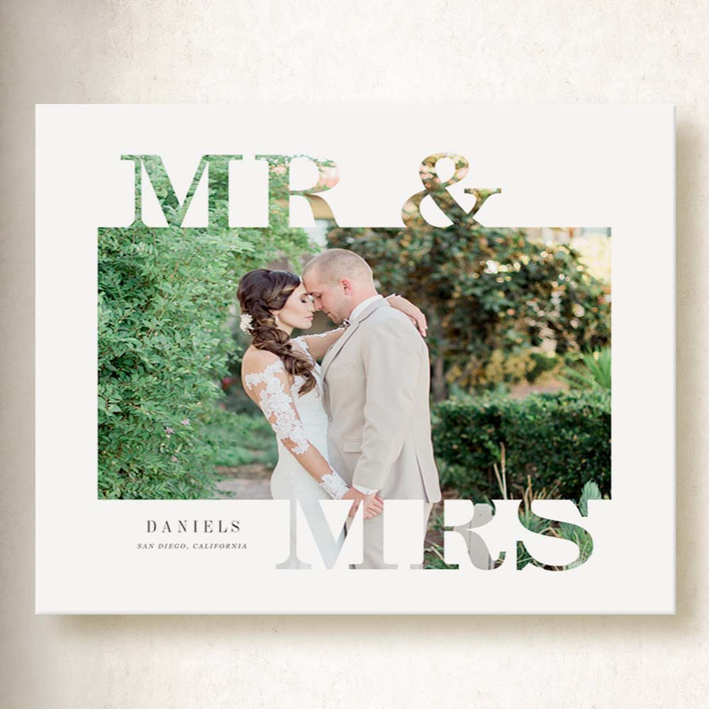 Mr & Mrs Wedding Canvas Art