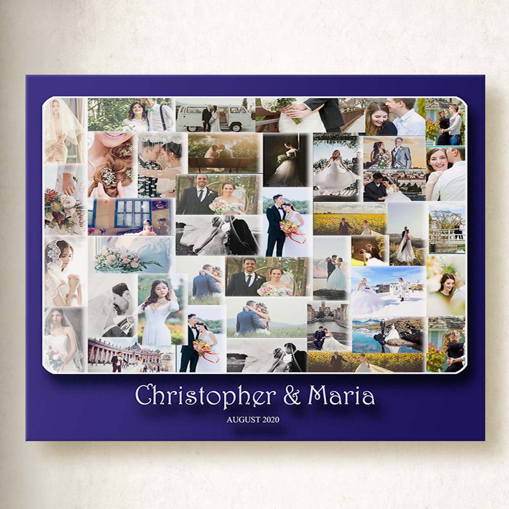 Our Wedding Merger Photo Collage On Canvas
