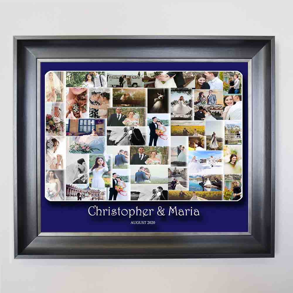 Our Wedding Merger Framed Photo Collage