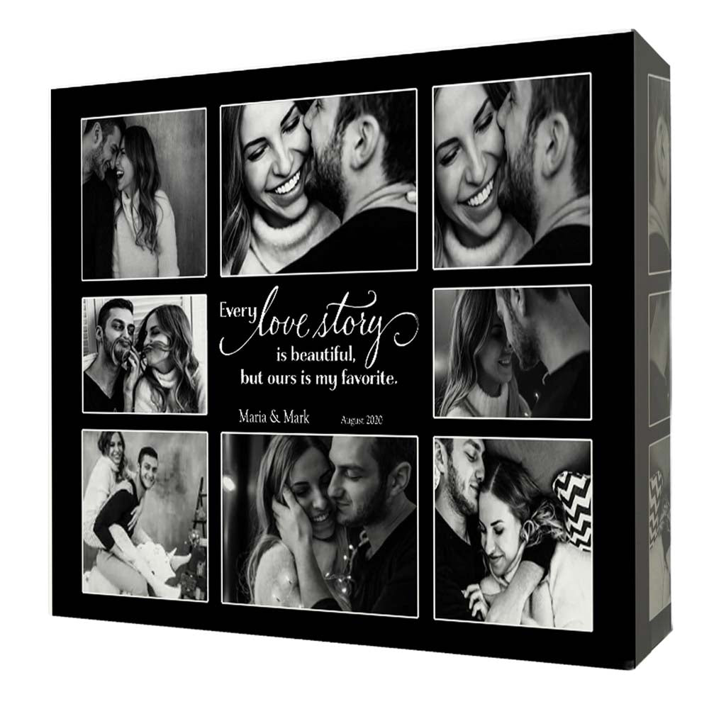 Light Gray Our Love Story Framed Photo Collage