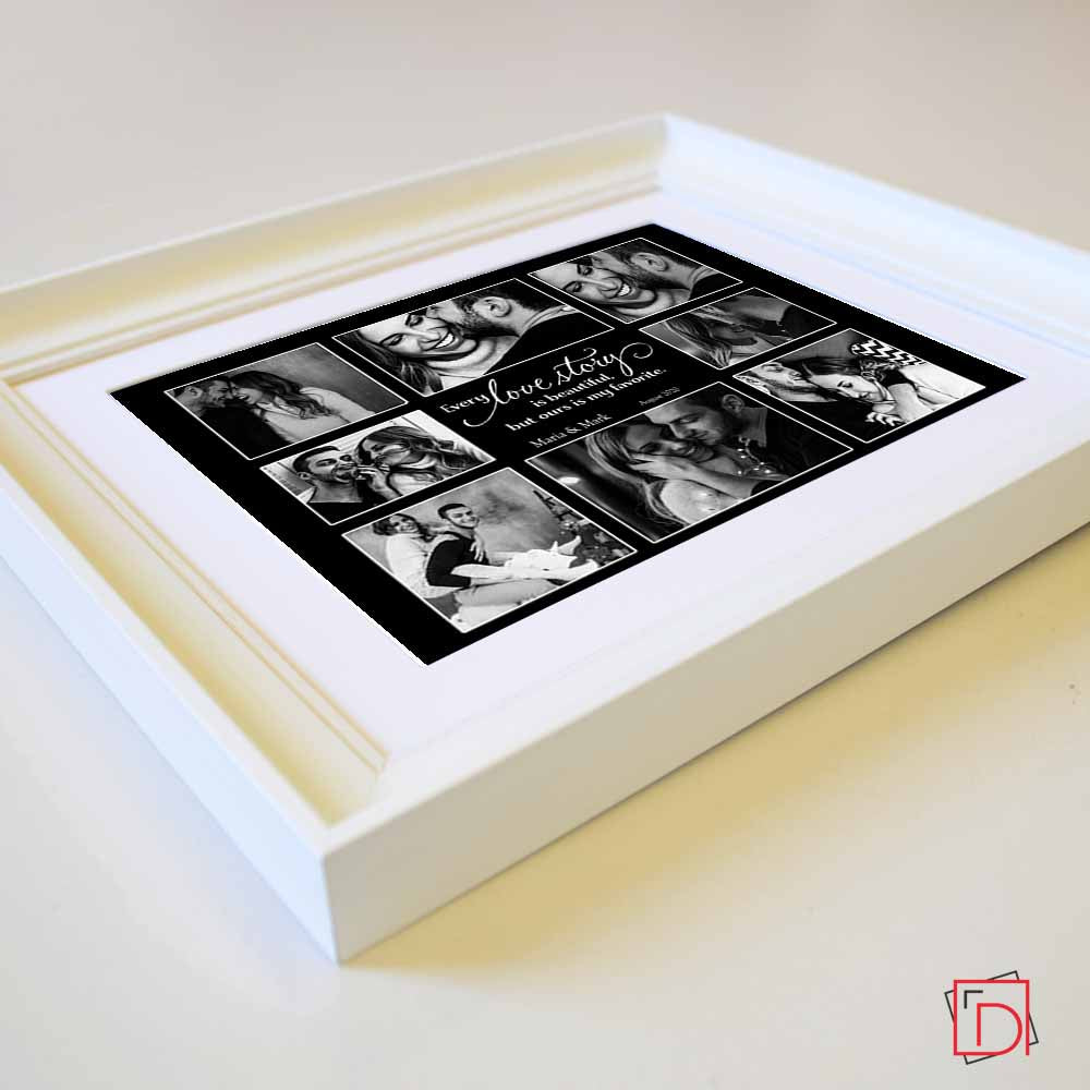 Black Our Love Story Framed Photo Collage