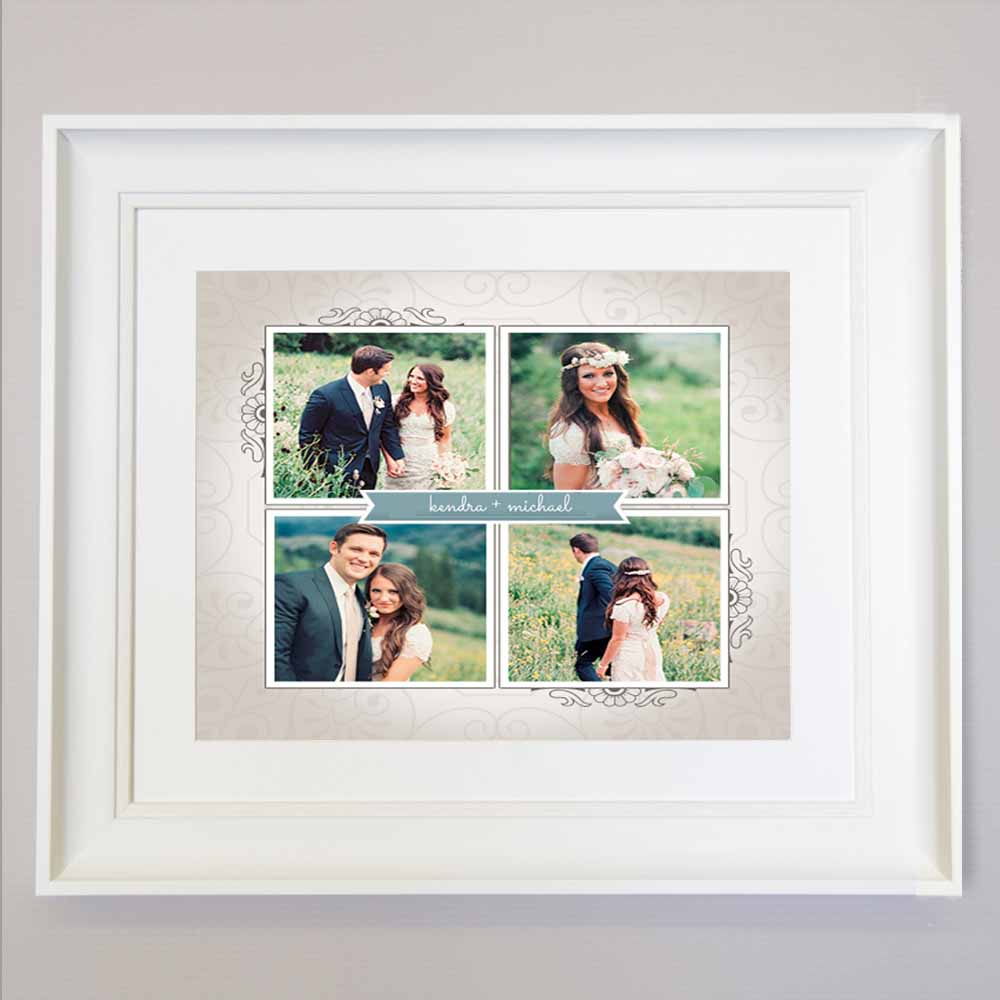 Dark Gray Romance & The Stone Photo Collage Wall Art