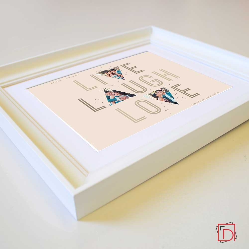 Tan Live, Laugh, Love  Photo Collage Wall Art