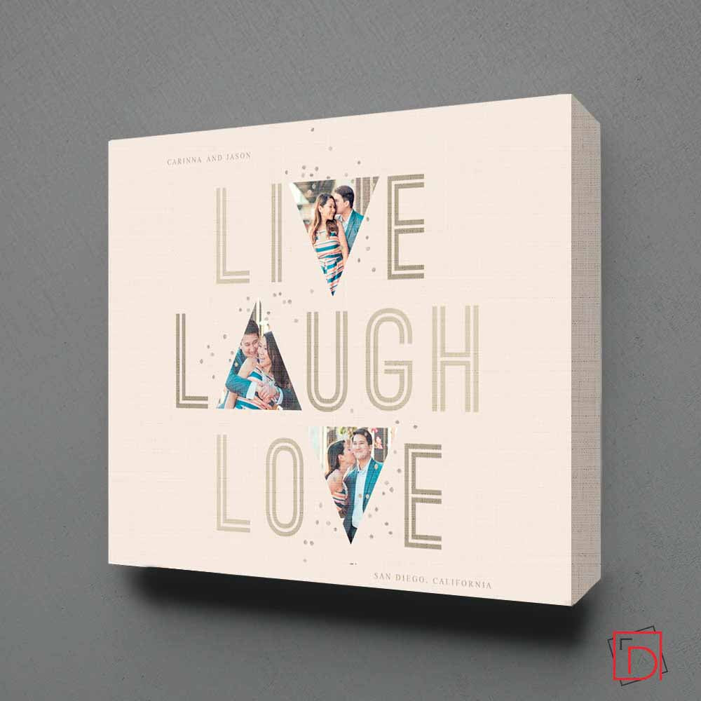 Live, Laugh, Love  Photo Collage Wall Art
