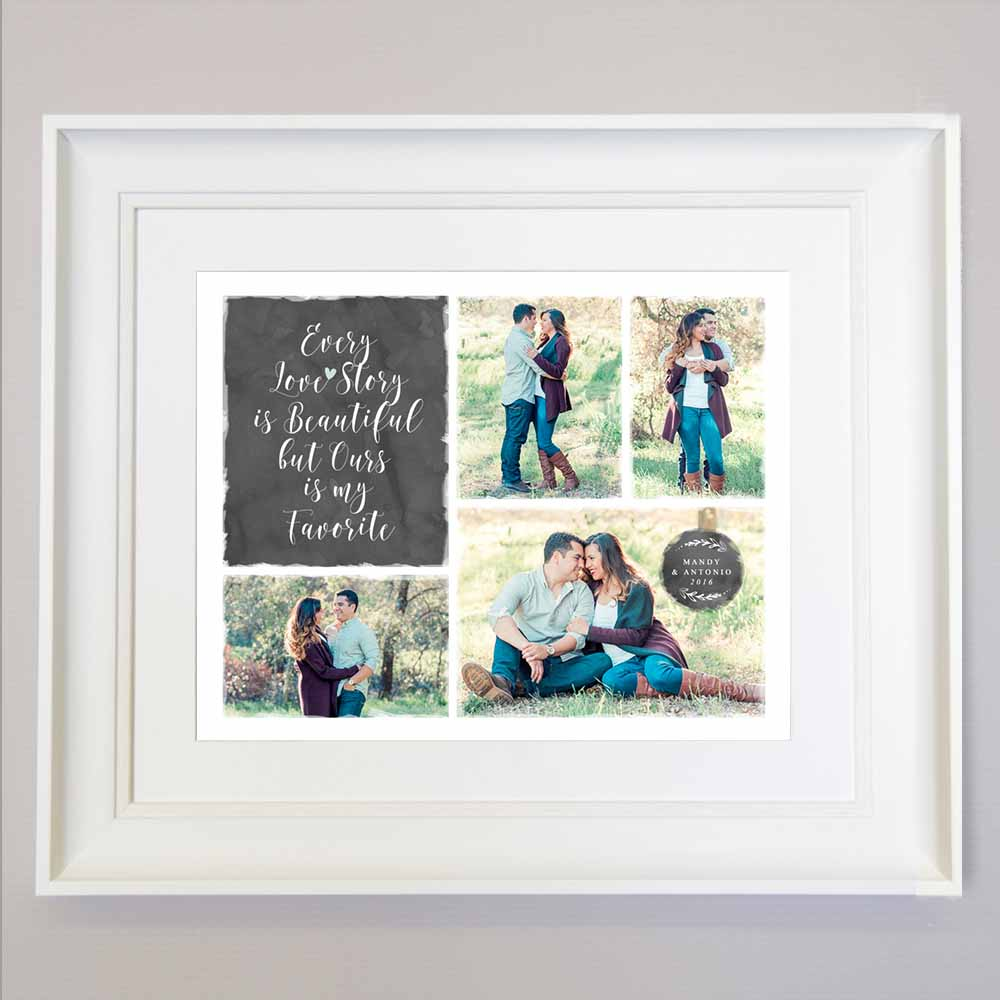 Favourite Love Story Photo Collage Wall Art - Do More With Your Pictures