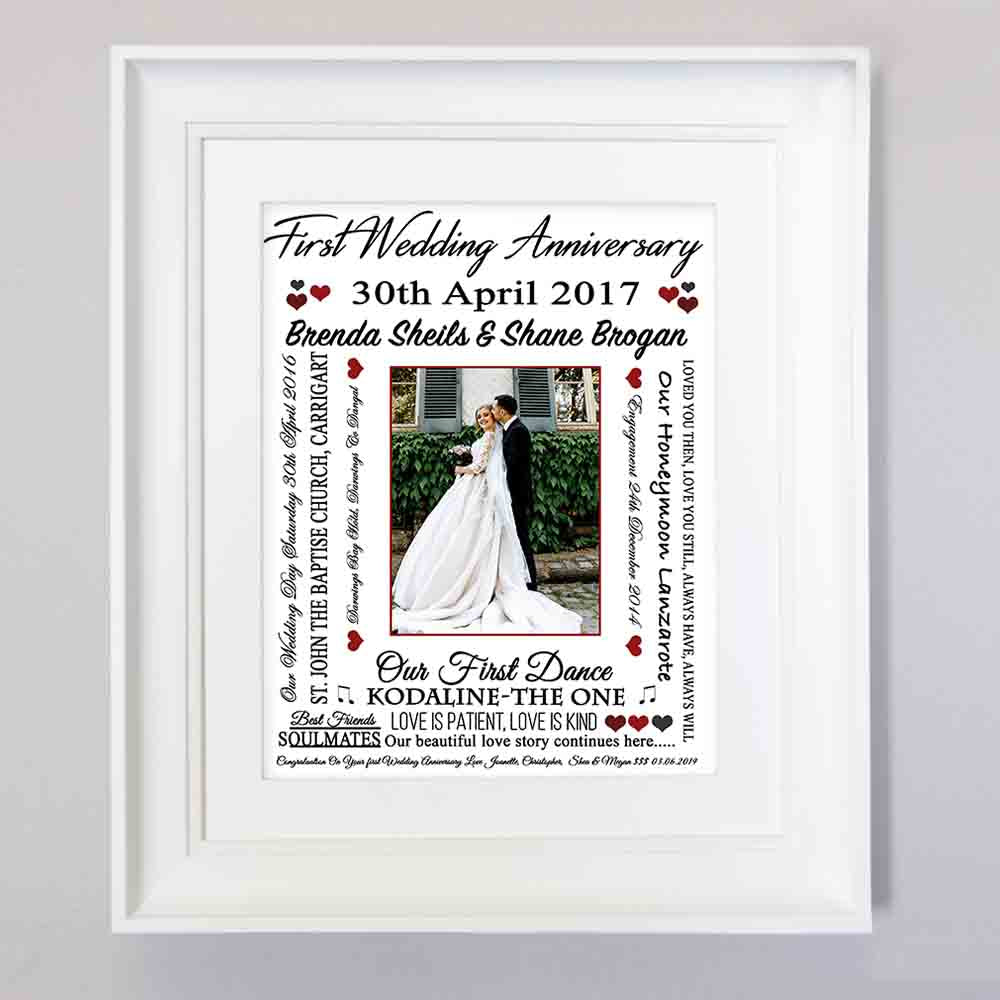Wedding Anniversary Word Cloud Gift Sentiment