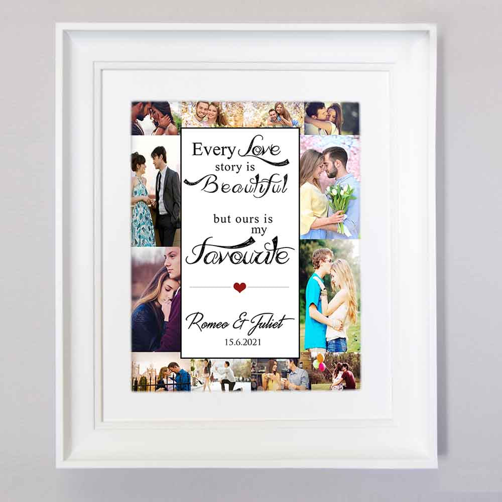 Every Love Story Is Beautiful Photo Collage Wall Art - Do More With Your Pictures