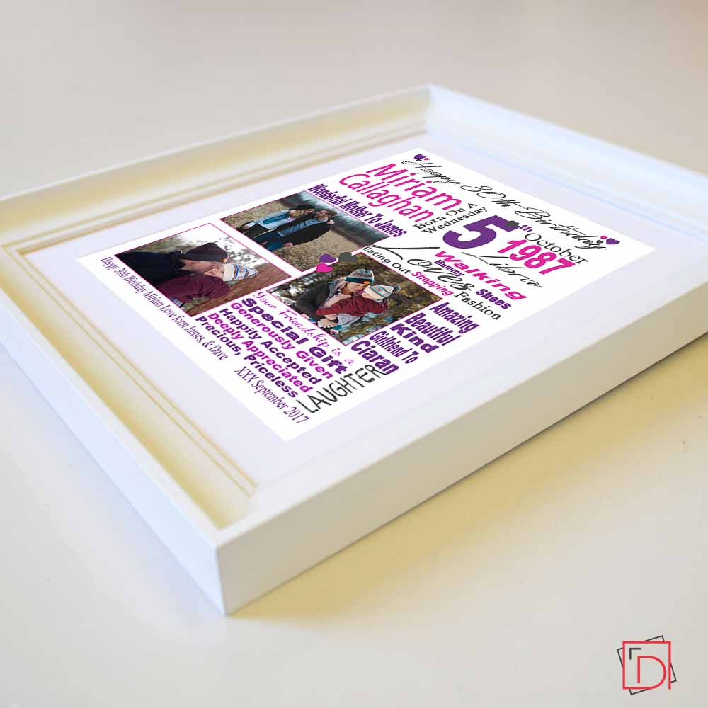 Birthday Celebration Sentiment Frame