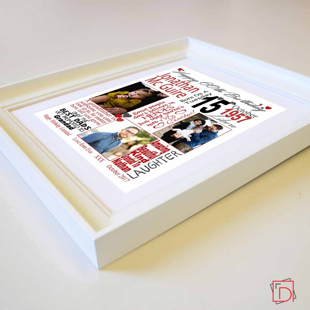 60th Birthday Sentiment Frame