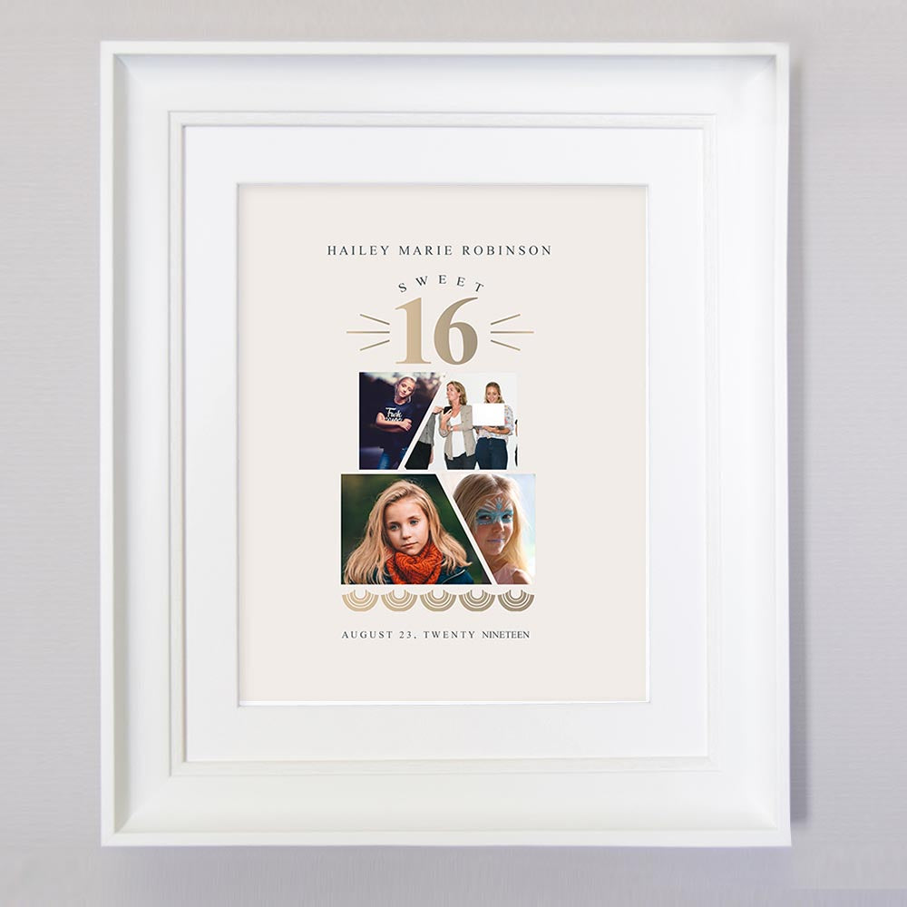 Personalised Celebrate your loved ones Sweet Sixteen Birthday picture Frame