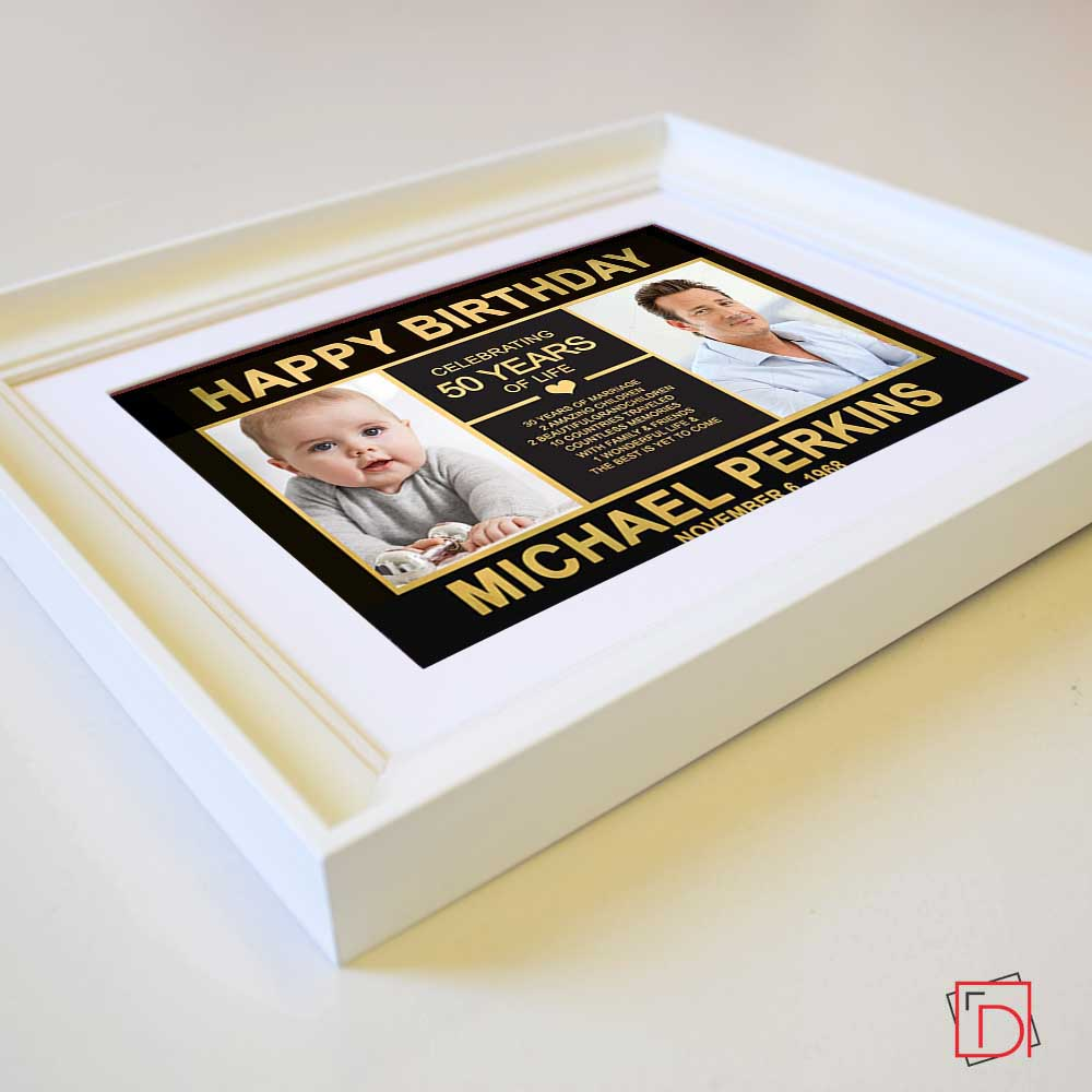 Personalised Picture Frame Birthday Celebration Suit Product