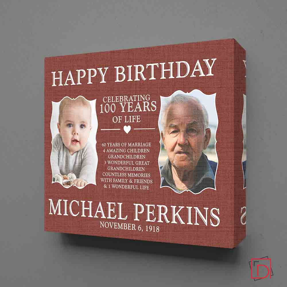 Personalised Picture Frame 100th Birthday Celebration Suit Product