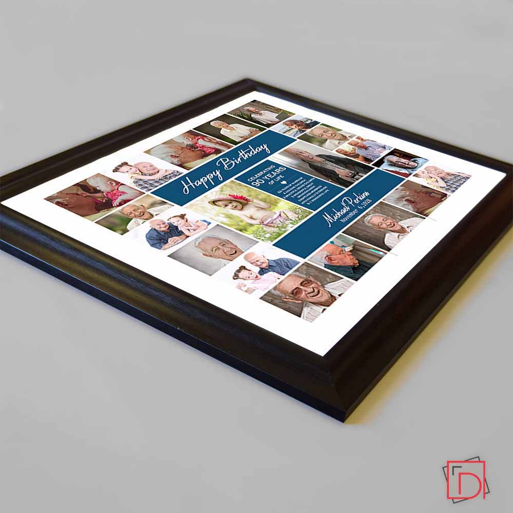 Birthday CelebrationFramed Photo Collage