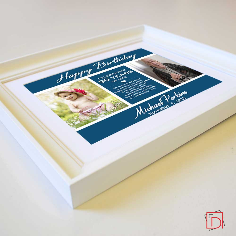Personalised Picture Frame 90th Birthday Celebration Suit Product