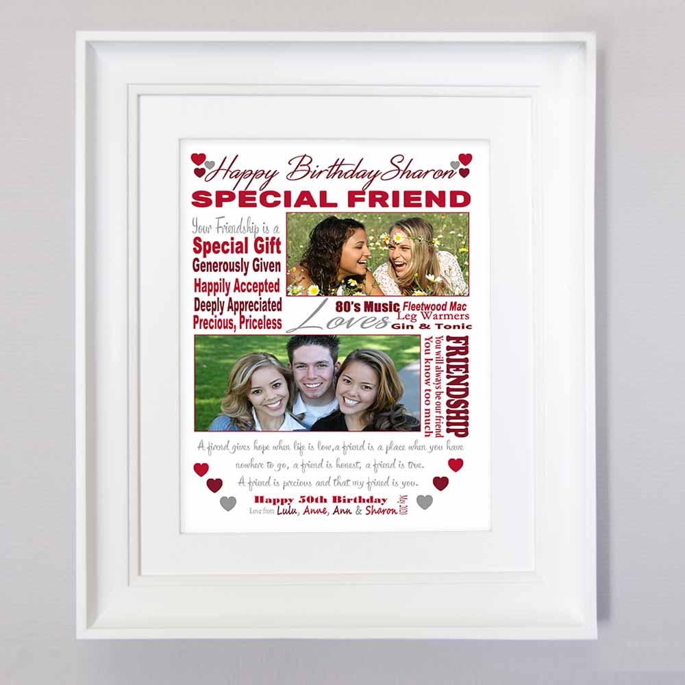 Best Friend Birthday Sentiment Frame