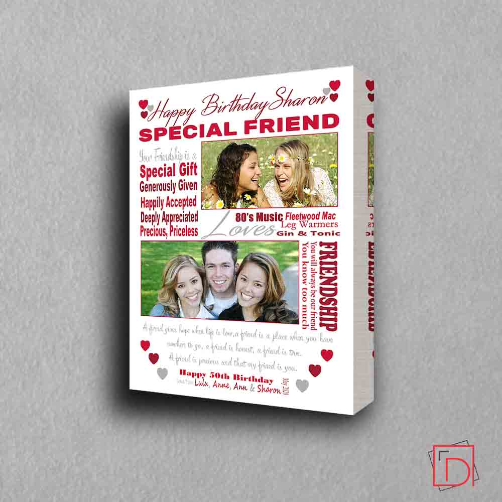 Best Friend Birthday Sentiment Frame - Do More With Your Pictures
