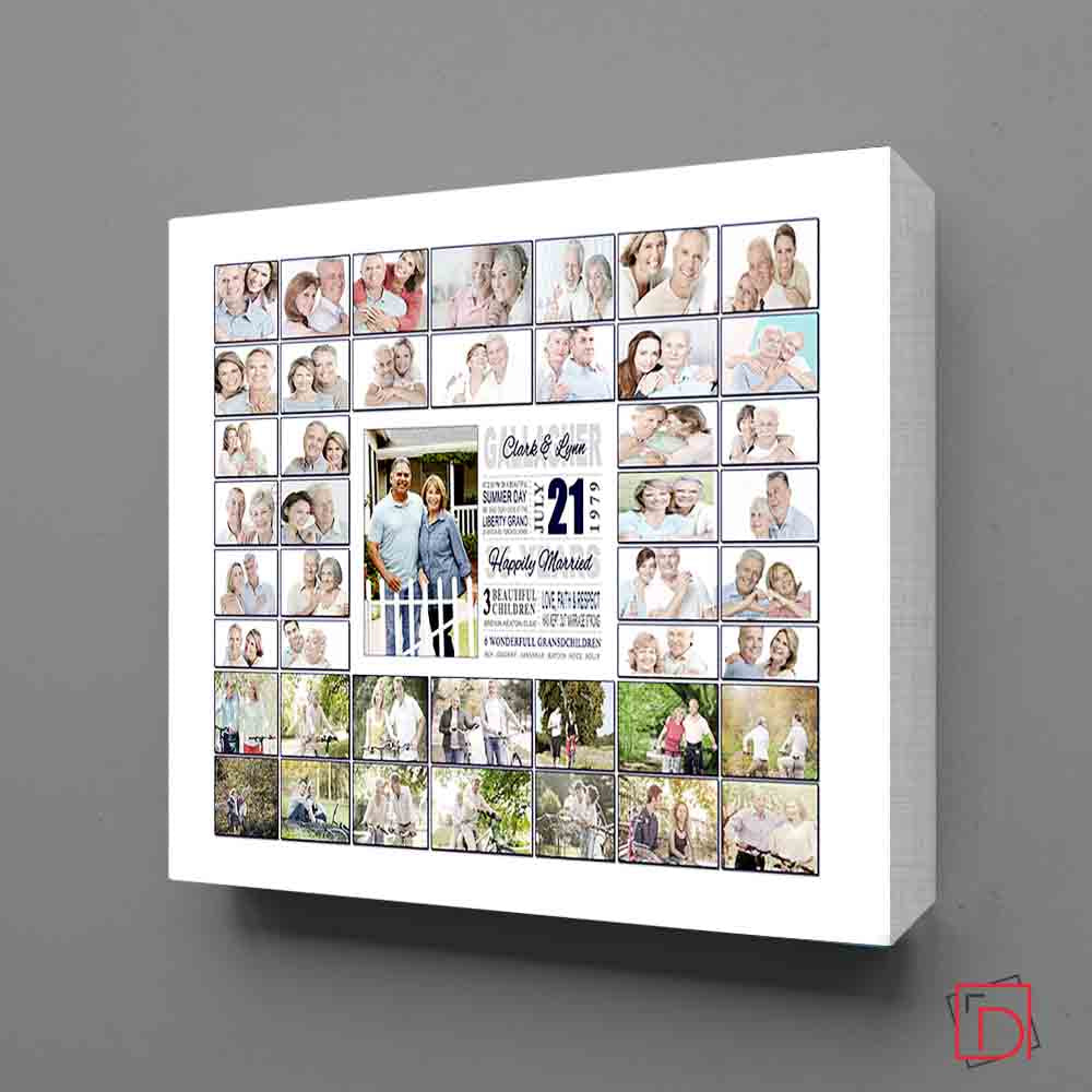 White Smoke Wedding Framed Photo Collage