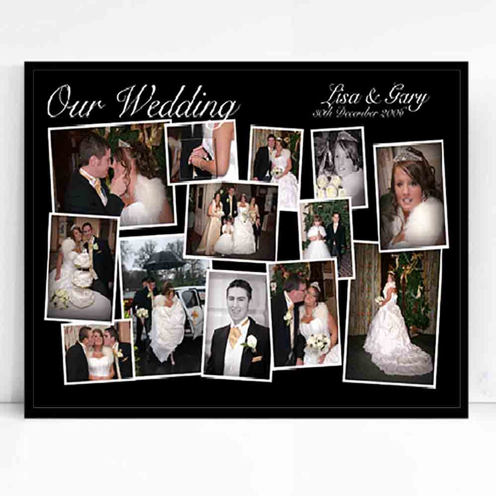 Our Wedding Framed Photo Collage