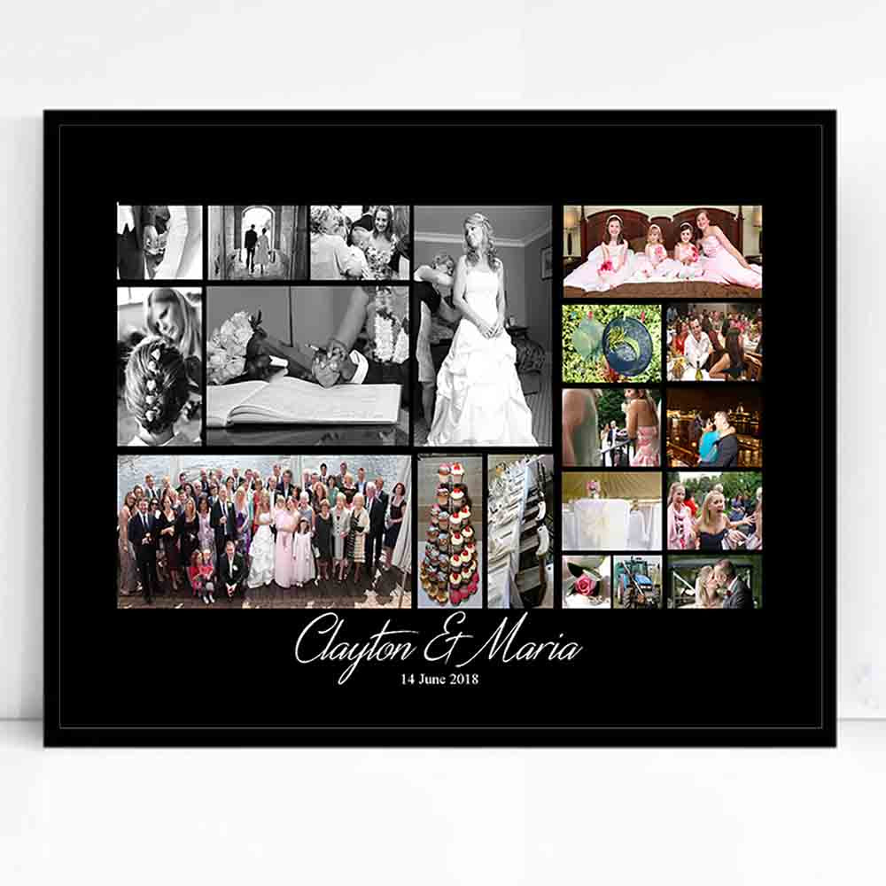 From This Day Wedding Framed Photo Collage