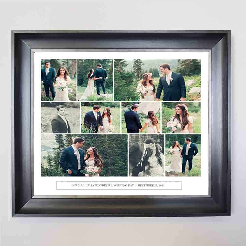 Cancun Wedding Framed Photo Collage