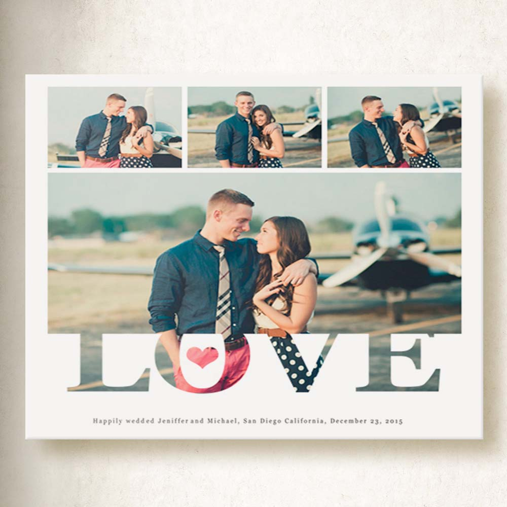 True Love Photo Collage On Canvas